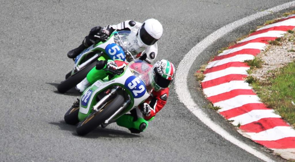 Claudio Cipriani e Guy Bertin com suas Kawasaki KR 350.  (ICGP Brasil)